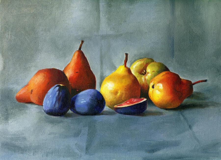 Still-life Painting - Pears by Tatyana Holodnova