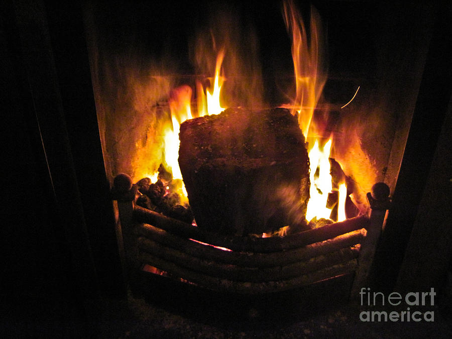 Ireland Photograph - Peat Fire by Black Sun Forge