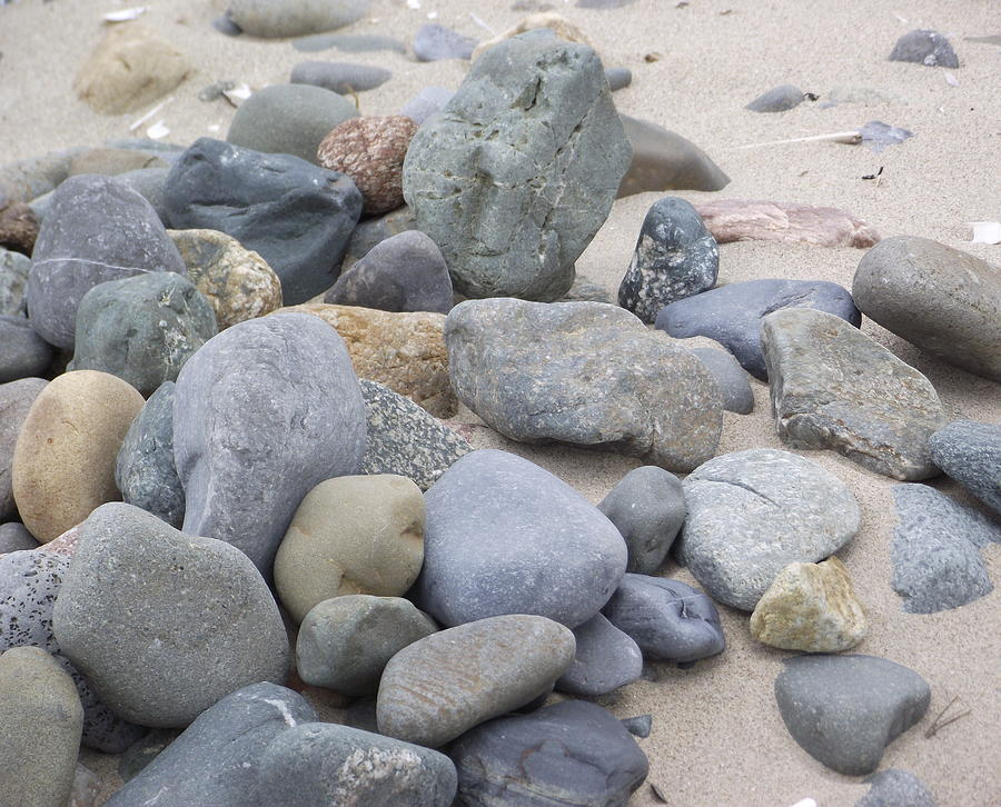 Pebbles Photograph - Pebbles by Lorainek Photographs