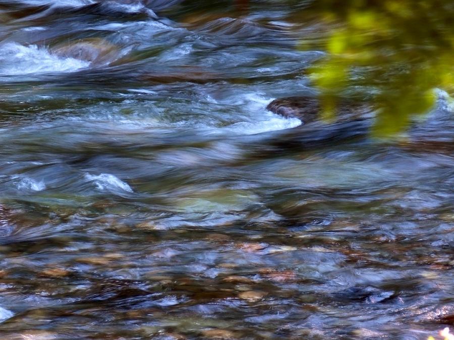 Water Photograph - Pebbles Under Icicle Creek Washington State by Christine Burdine