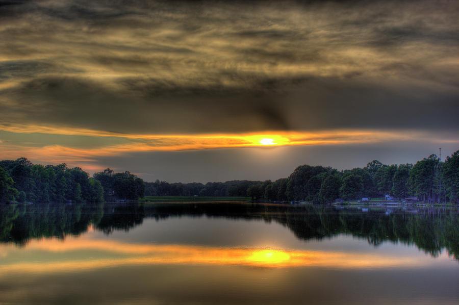 Sunset Photograph - Peeking Through by Barry Jones