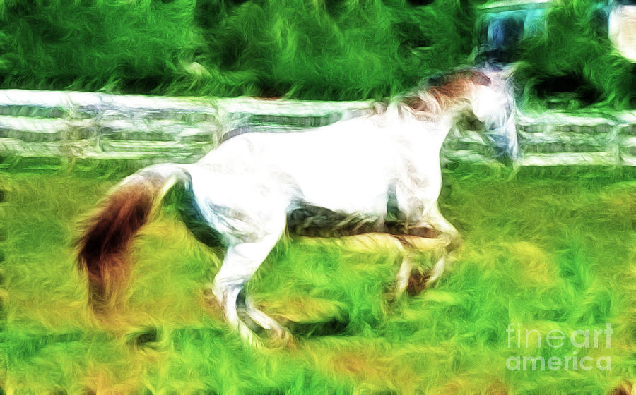 White Horse Photograph - Pegasus Impression by Paul Ward