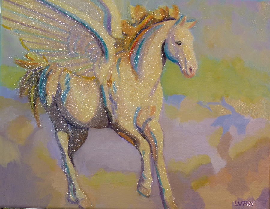 Pegasus Painting By L V Fry