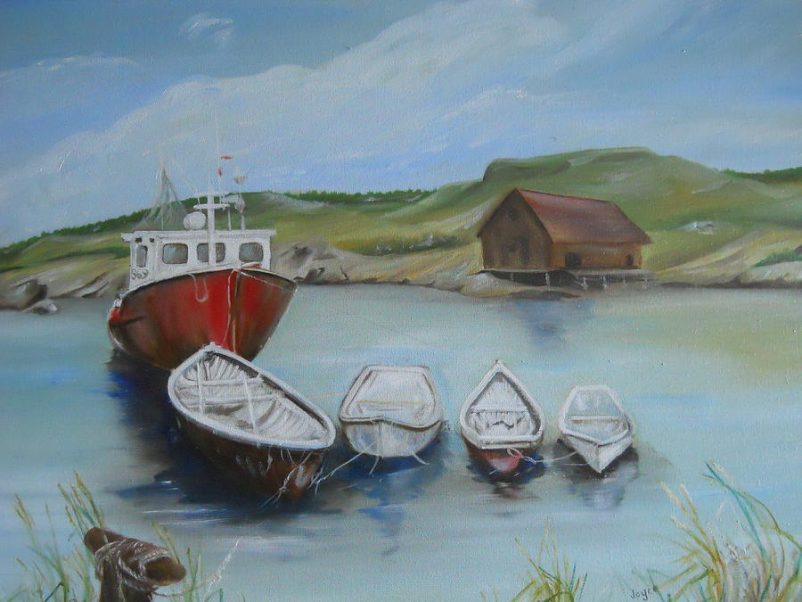 Water Painting - Peggys Cove by Joyce Reid