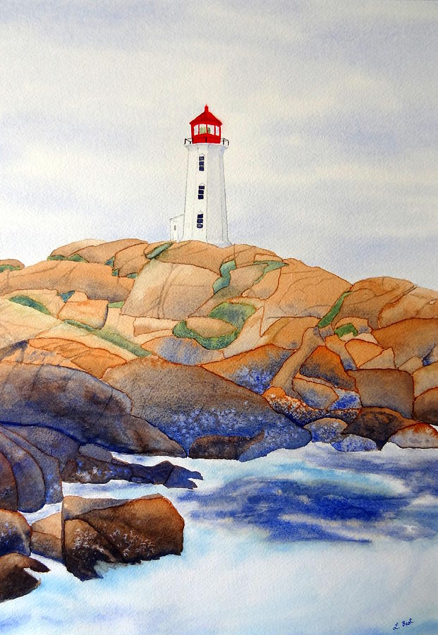Peggy's Cove Painting - Peggys Cove by Laurel Best