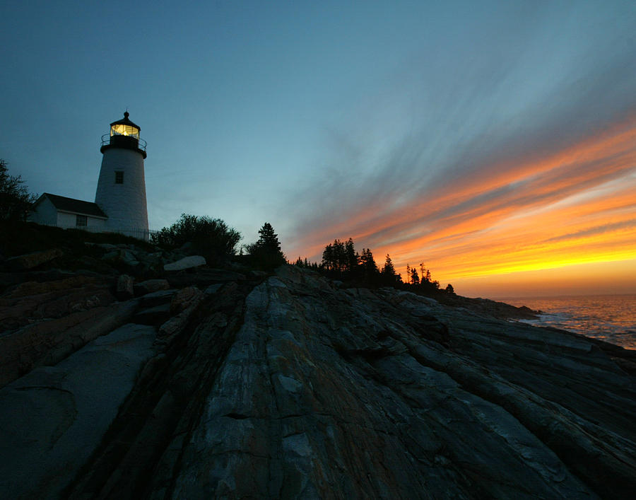 Lighthouse Photograph - Pemaquid by David Yunker