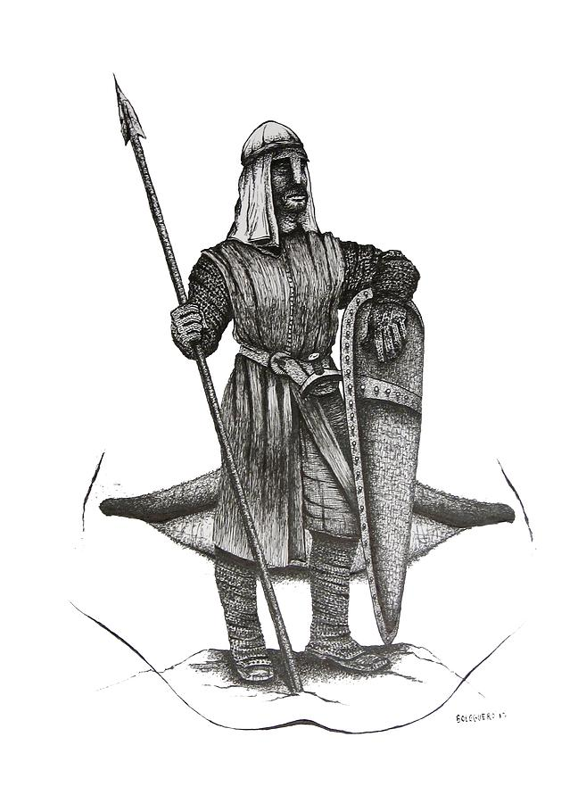 Original Drawing - Pen And Ink Drawing Of The Guardian by Mario Perez