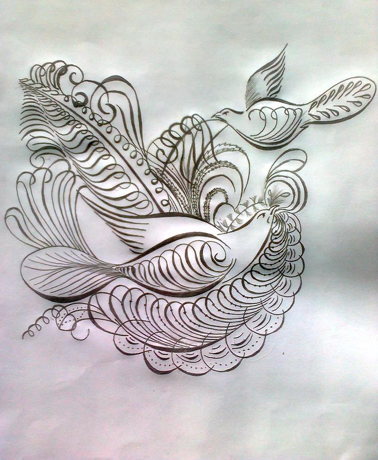 Pencil Drawing Drawing by Saji N m