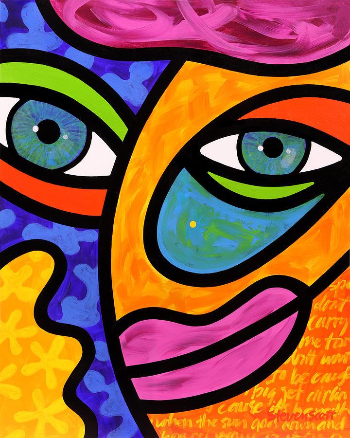 Eyes Painting - Penelope Peeples by Steven Scott