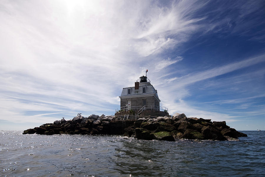 Lighthouse Photograph - Penfield Reef Lighthouse by Stephanie McDowell
