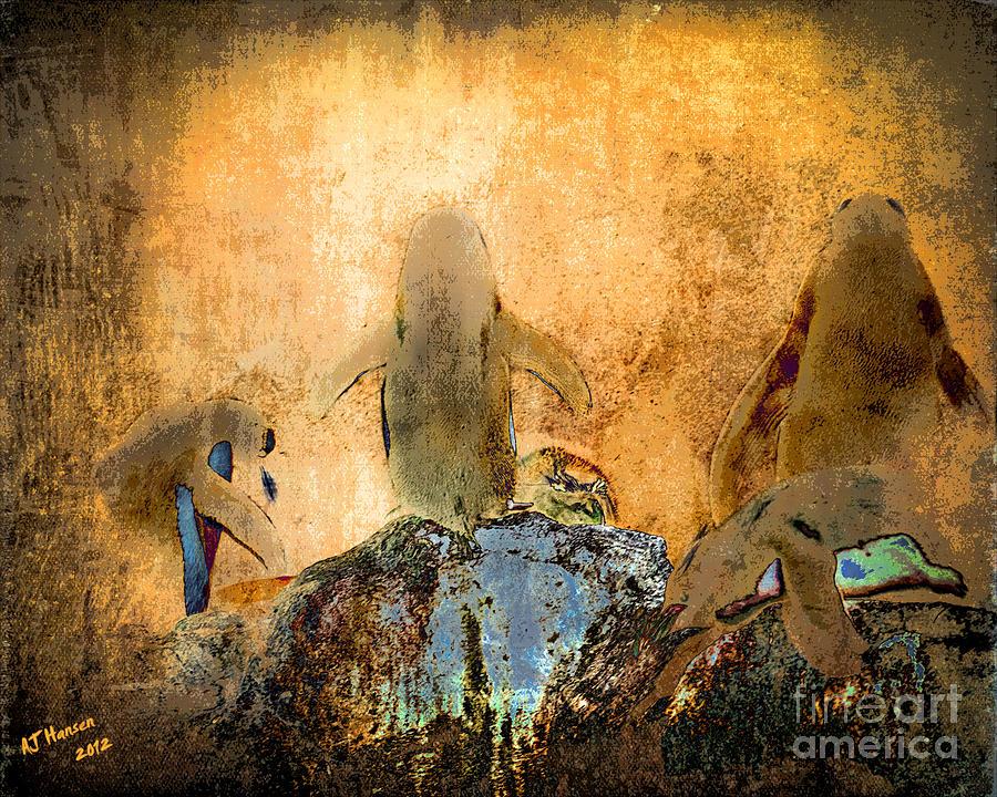 Aj Hansen Photograph - Penguin Quorum by Arne Hansen