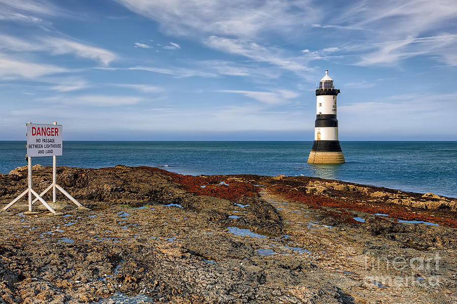 Lighthouse Photograph - Penmon Point Lighthouse by Adrian Evans