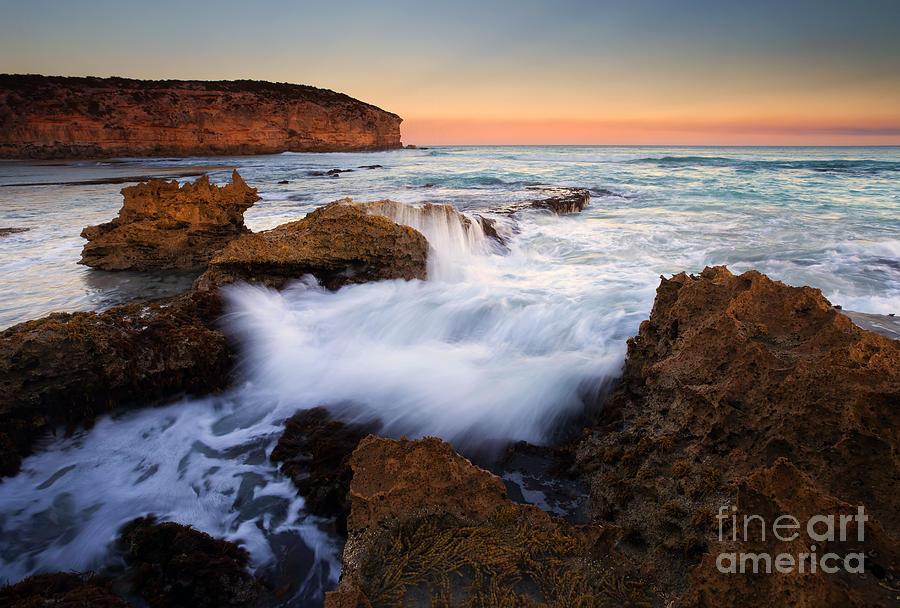 Pennington Bay Photograph - Pennington Pastel Sunset by Mike  Dawson