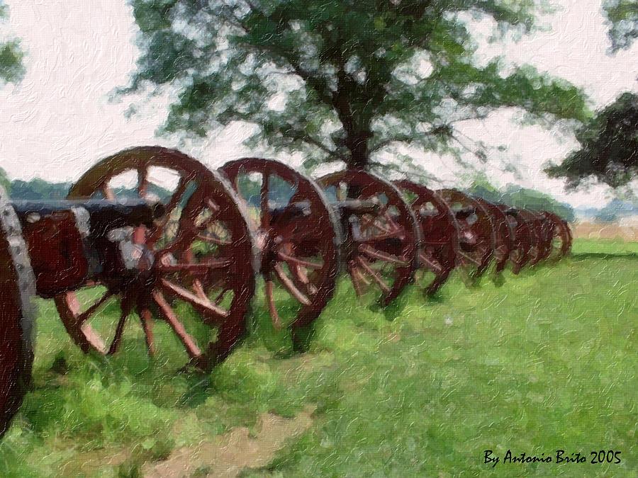 Cannon Digital Art - Pennsylvanias Confederate Cannon by Antonio Brito