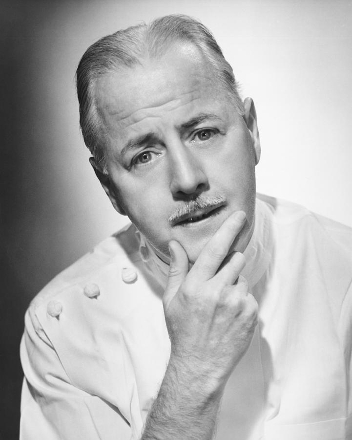 Adult Photograph - Pensive Doctor Posing In Studio, (b&w), Portrait by George Marks