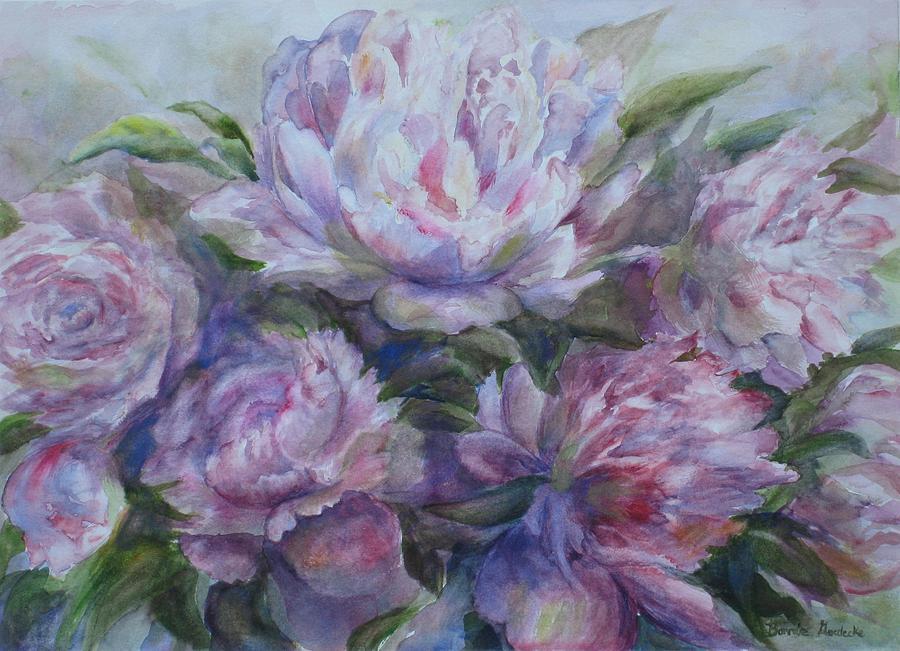 Flowers Painting - Peonies by Bonnie Goedecke