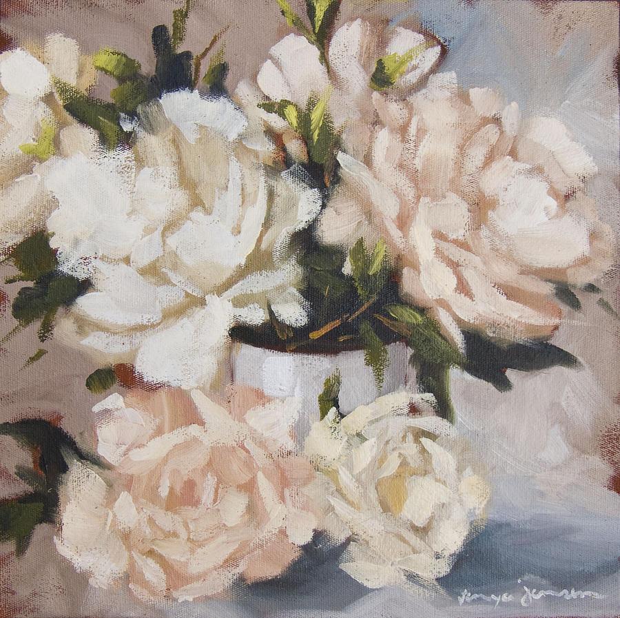 Peonies in white vase painting by tanya jansen still life painting peonies in white vase by tanya jansen reviewsmspy