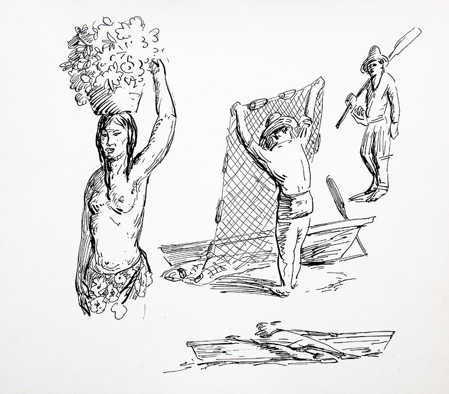 People Sketches Drawing By Aileen Markowski
