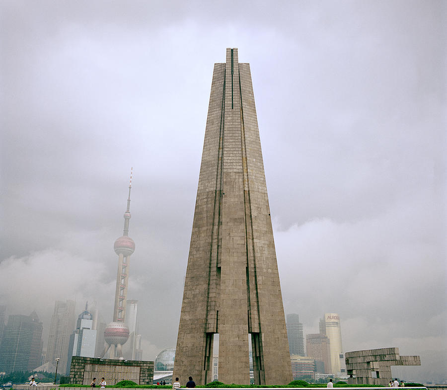 China Photograph - Peoples Heroes Monument In Shanghai In China by Shaun Higson