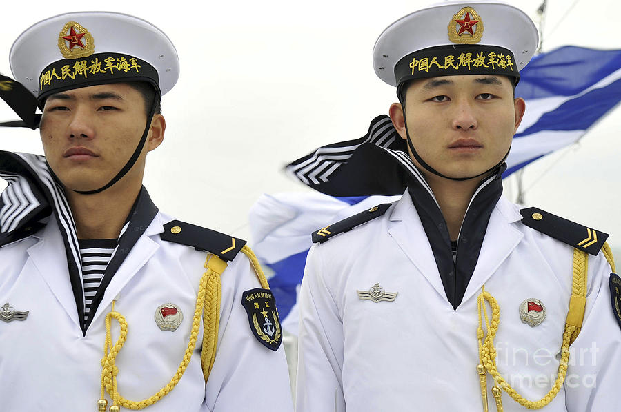Military Photograph - Peoples Liberation Army Navy Sailors by Stocktrek Images