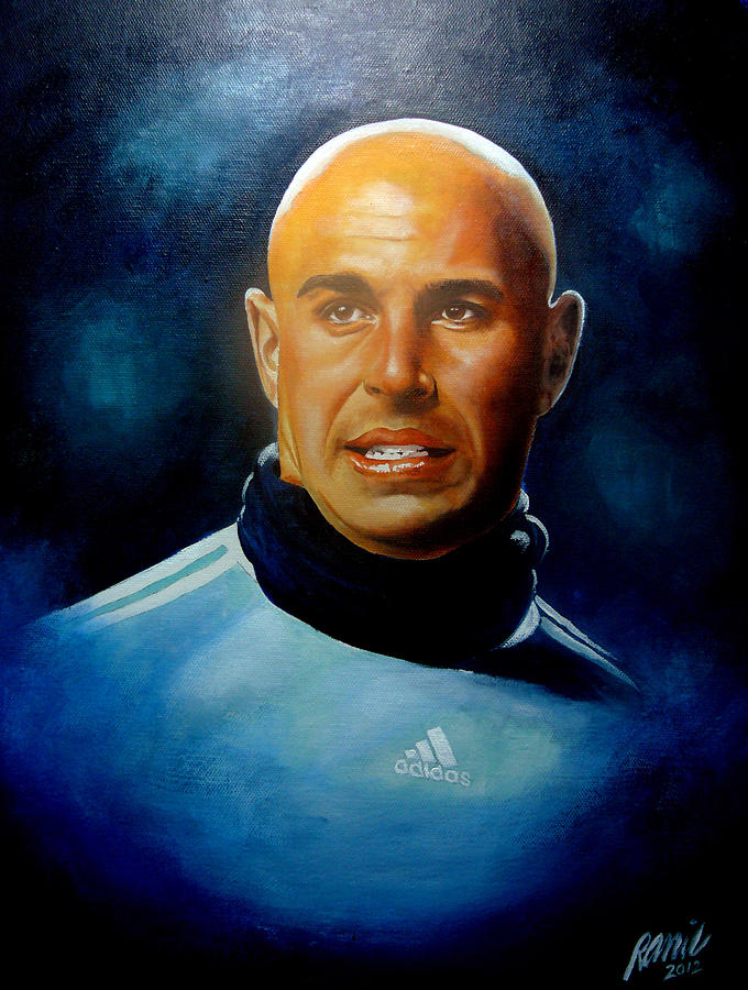 Liverpool Painting - Pepe Reina Portrait by Ramil Roscom Guerra