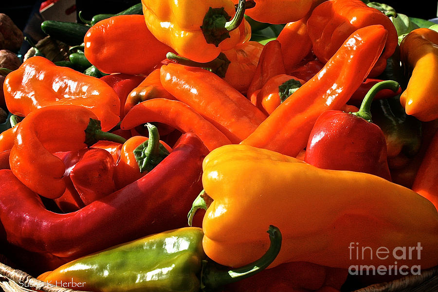 Outdoors Photograph - Pepper Palooza by Susan Herber