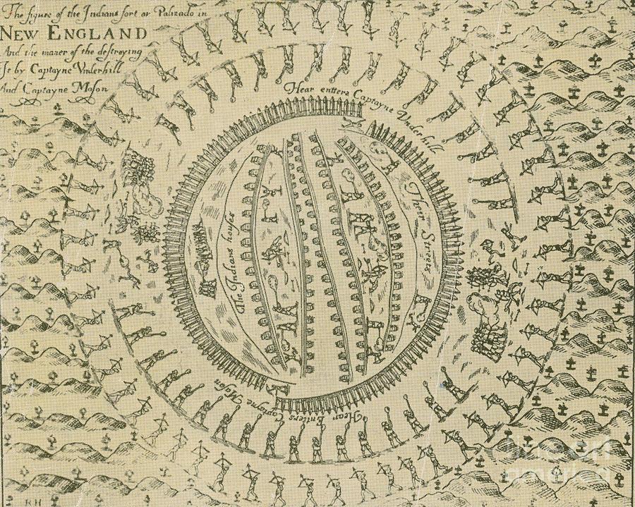 History Photograph - Pequot War Mystic Massacre 1637 by Photo Researchers
