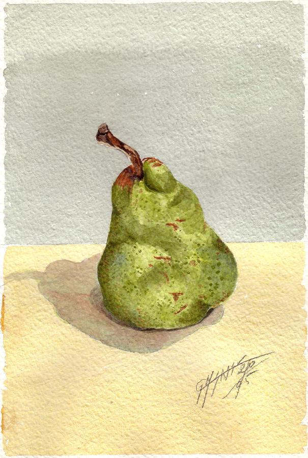 Still Life Painting - Pera by Giovanni Marco Sassu