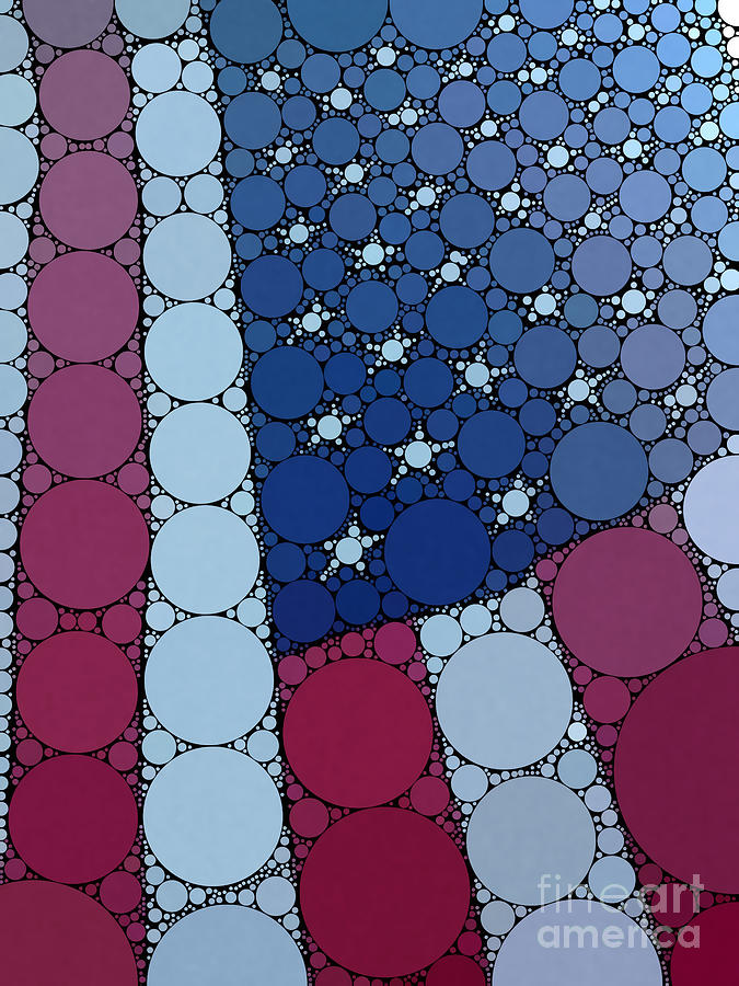 Stars And Stripes Digital Art - Percolated American Flag by Christine Segalas