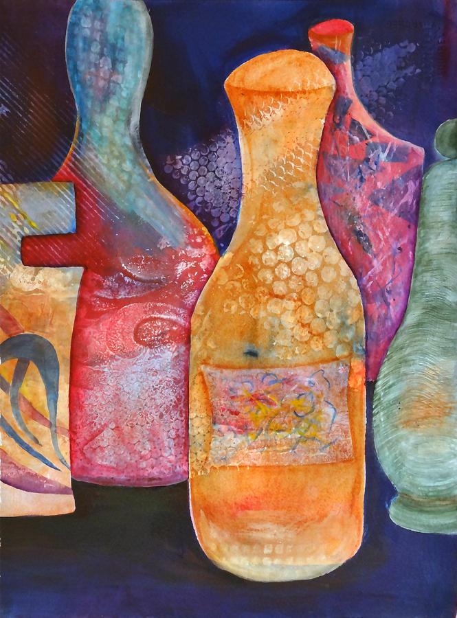 Perfume Bottles Painting - Perfume Bottles 2 by Jean Rascher