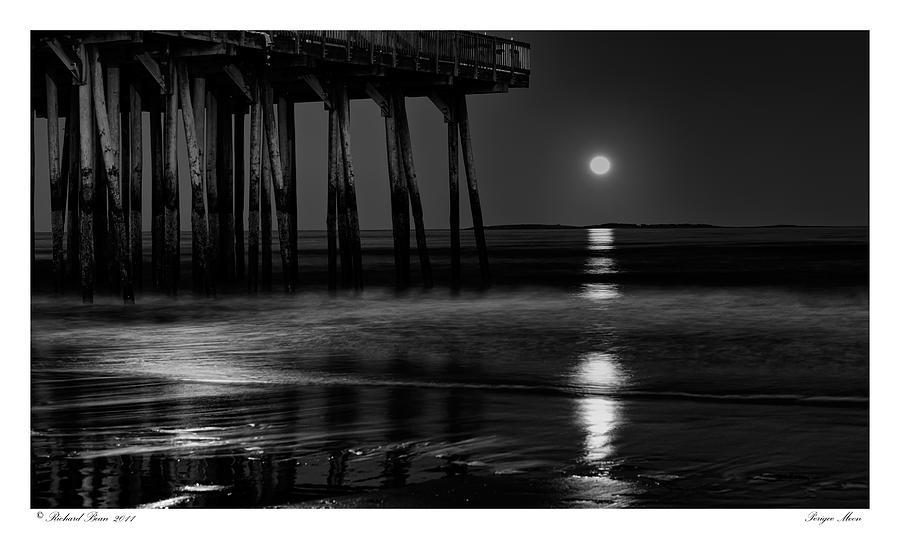 Beach Photograph - Perigee Moon by Richard Bean