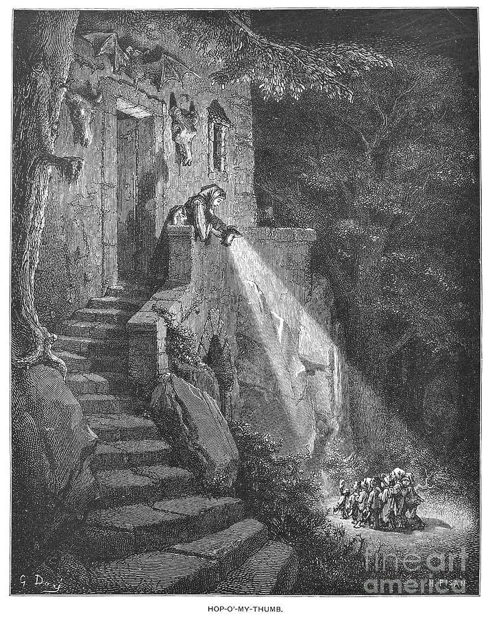 1867 Photograph - Perrault: Tom Thumb by Granger