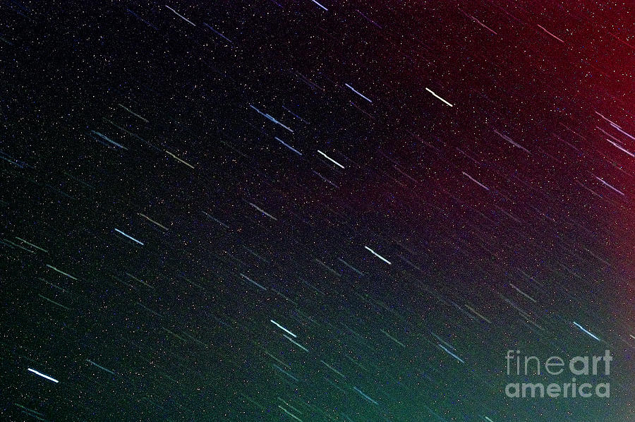 Meteor Photograph - Perseid Meteor Shower by Thomas R Fletcher