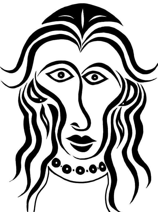 Persephone Drawing - Persephone by Beth Akerman
