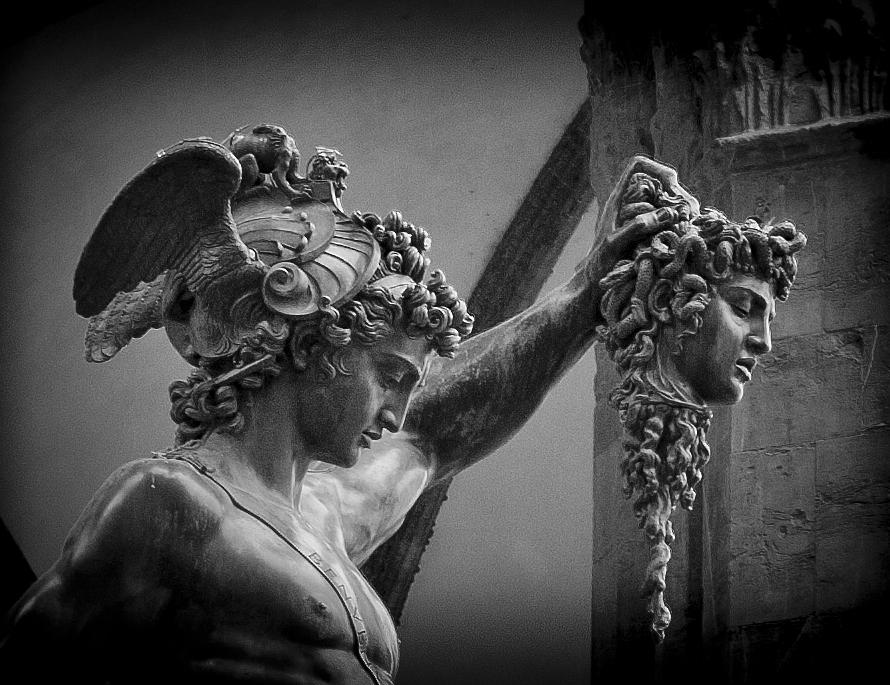 Perseus Head Medusa By Benvenuto Cellini Stock Photo ...  |Perseus With The Head Of Medusa Painting