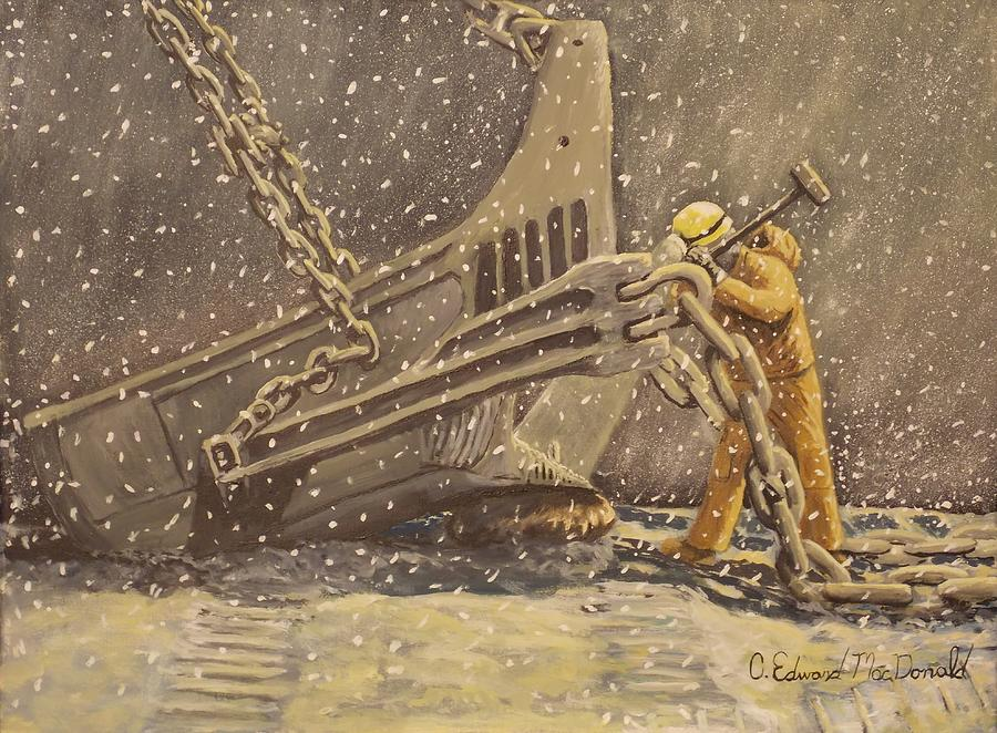Worker Painting - Perseverance by Carey MacDonald