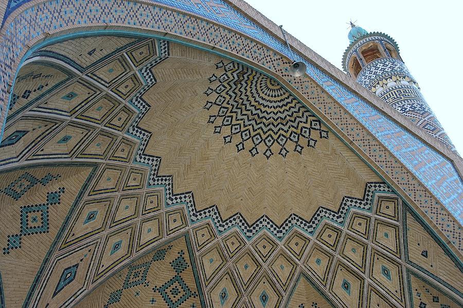 Blue Photograph - Persian Mosque by Tia Anderson-Esguerra