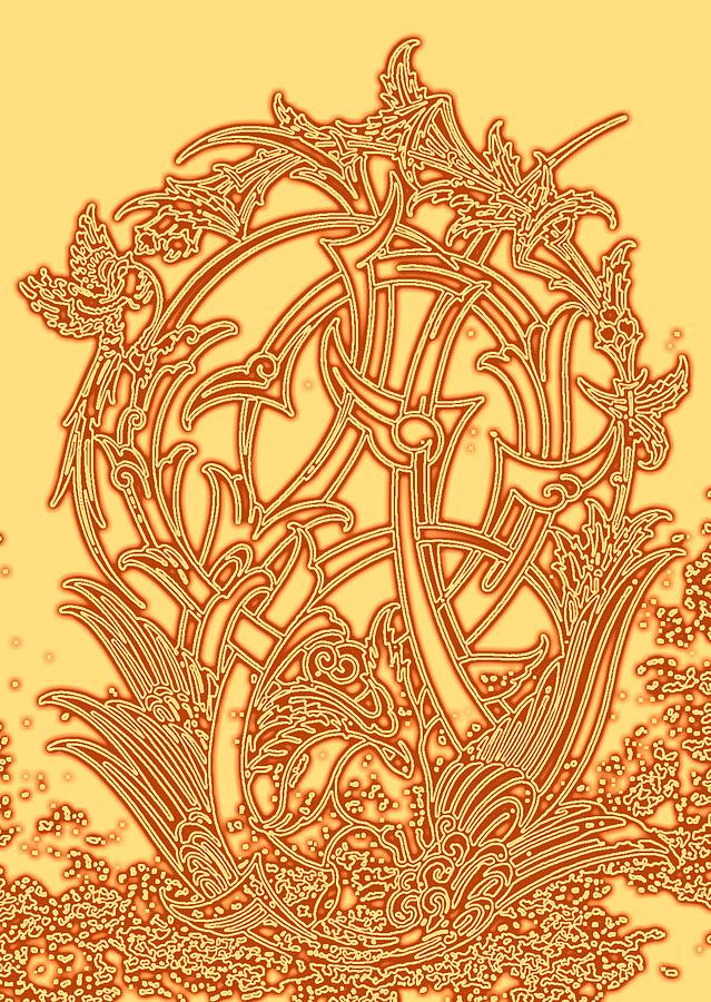 Persian Ornament Digital Art by Mohsen Mousavi