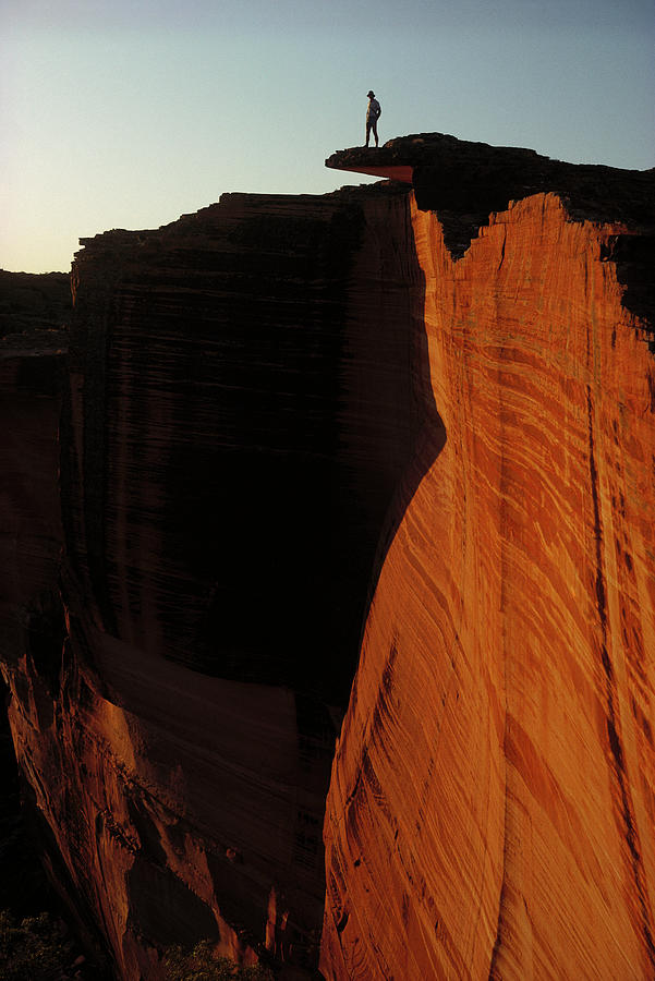 Ai Photograph - Person Standing Atop The Kings Canyon by Jean-Paul Ferrero