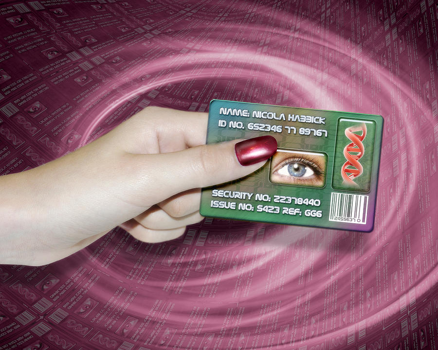 Technology Photograph - Personal Id Card by Victor Habbick Visions
