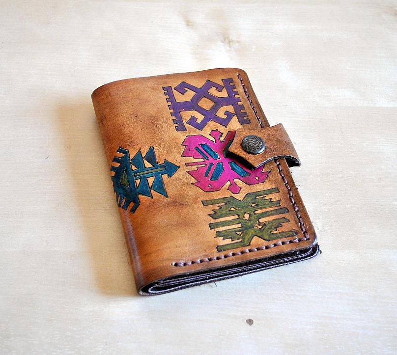 Personalized Women Leather Wallet Bi Fold Credit Card ...