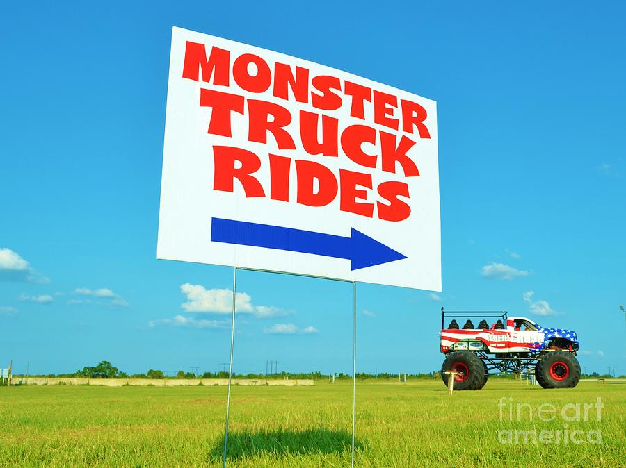 Monster Truck Rides Photograph - Perspective by Lynda Dawson-Youngclaus