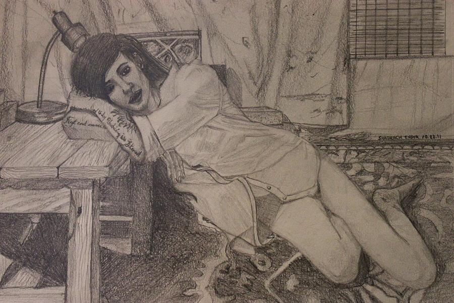 Valerie Drawing - Persuading by Shadrach Ensor
