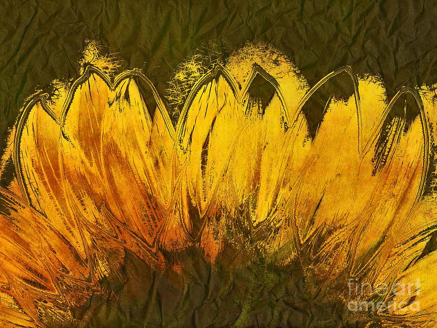 Sunflower Digital Art - Petales De Soleil - A43t02b by Variance Collections