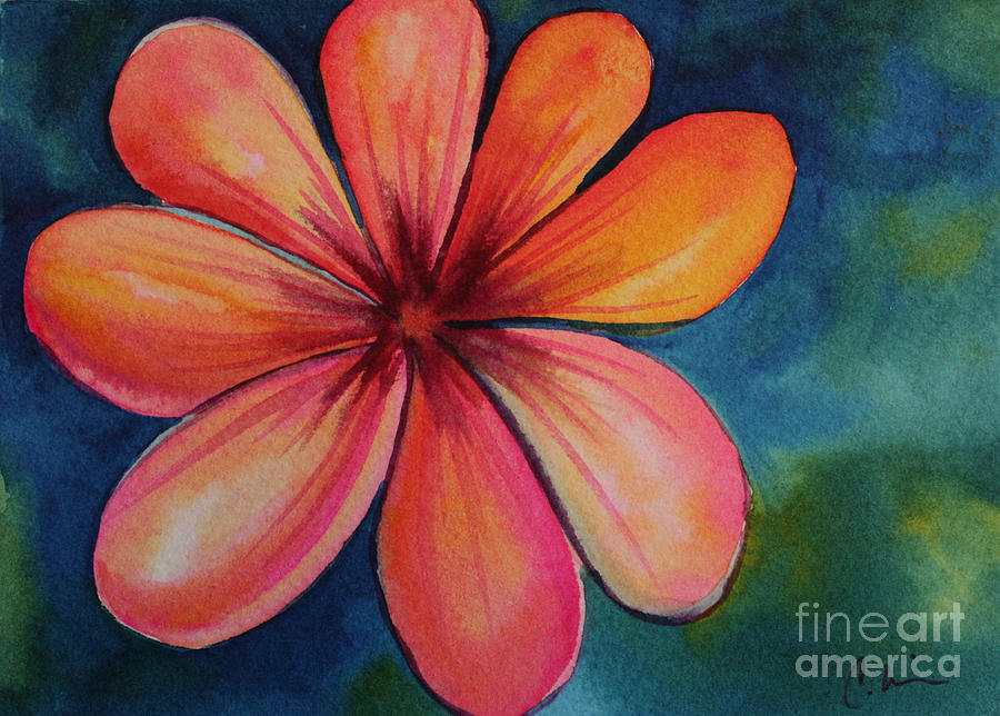 Flower Painting - Petals by Carolyn Weir