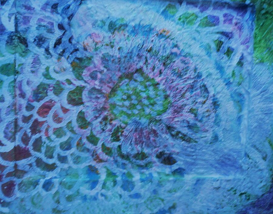 Petals Painting - Petals On Wood by Anne-Elizabeth Whiteway