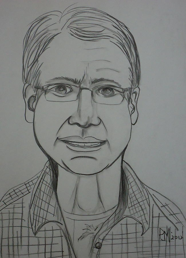 Portrait Drawing - Pete by Pete Maier