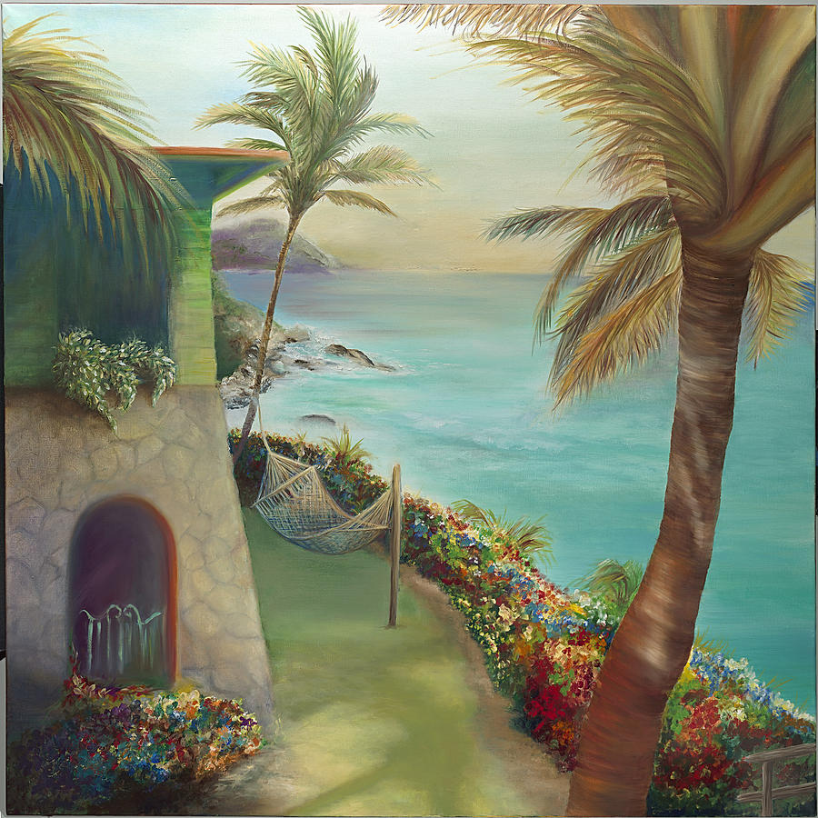 Peter Painting - Peter Island Escape by Lisa Kruse