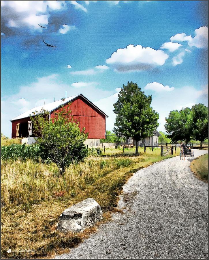 Peter Stuckey Farm Painting by Tom Schmidt