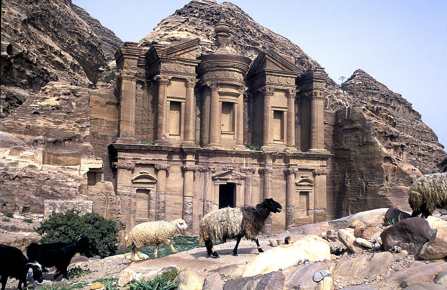 Horizontal Photograph - Petra Architecture by John Miles